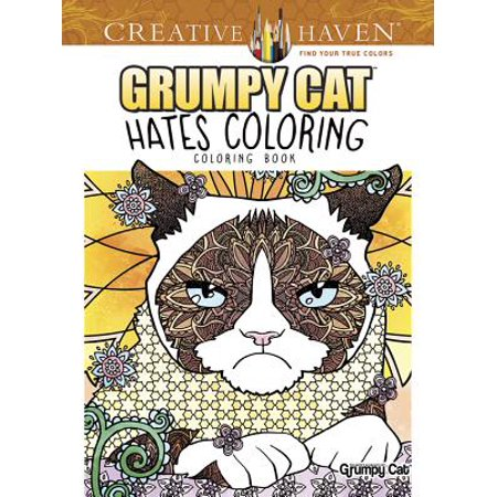 Creative Haven Grumpy Cat Hates Coloring : Coloring - Halloween Coloring Page Cat