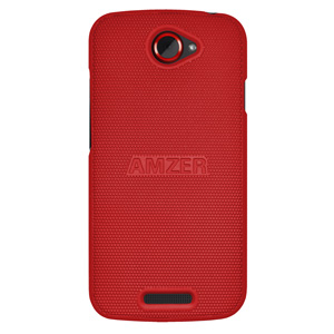 Premium Snap On Hard Shell Case for HTC One S - Dark Red