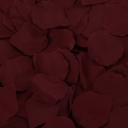 Koyal Wholesale Burgundy Silk Rose Petals, 200-Pack, Wedding Flowers Table Scatter, Rose Petal Aisle Runner Rose Petals Aisle