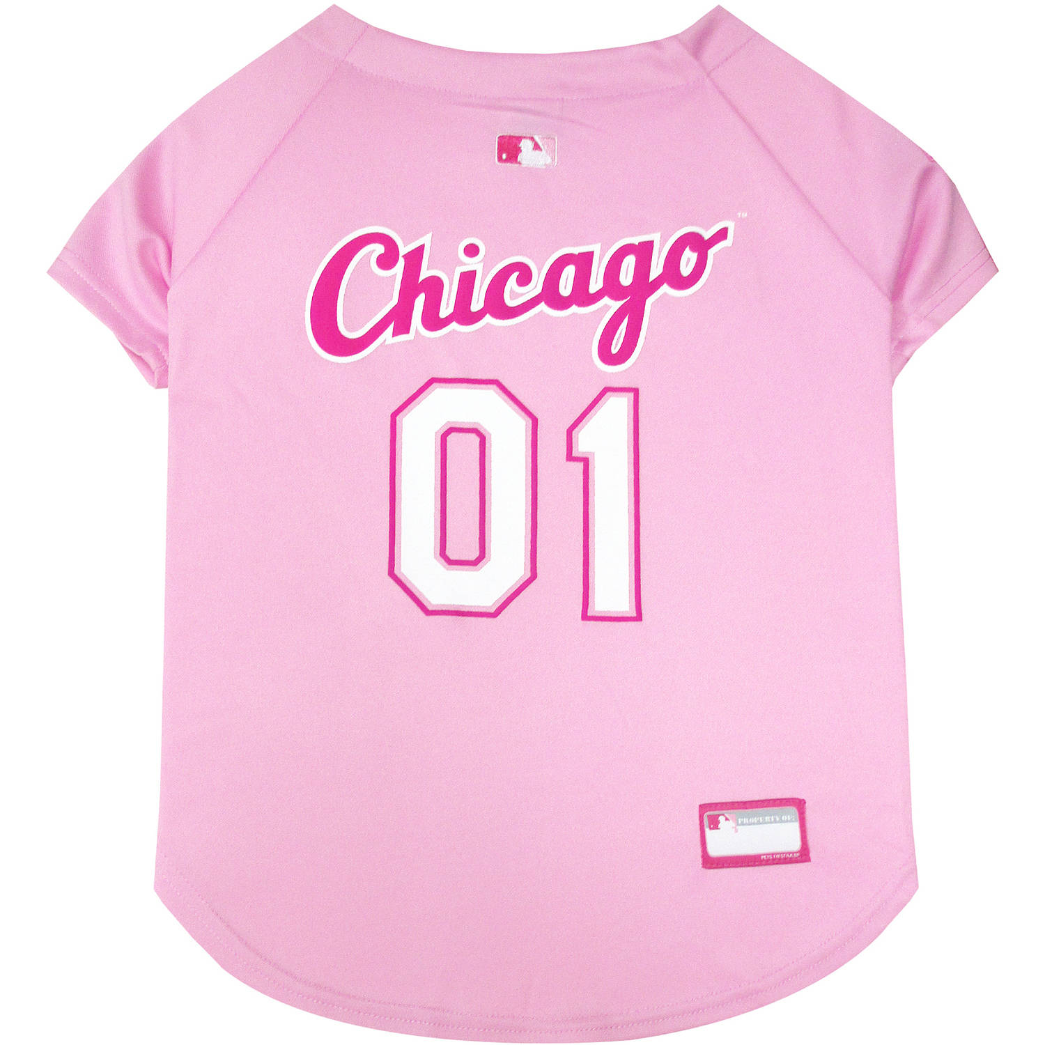 Pets First MLB Chicago White Sox Pet Pink Jersey, X-Small