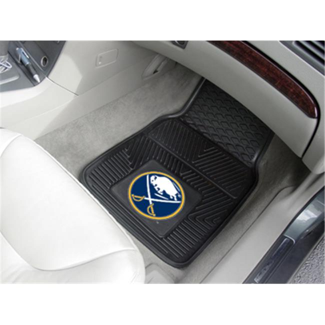Fanmats 10508 NHL - 18 inch x27 inch  - Buffalo Sabres 2-pc Heavy Duty Vinyl Car Mat Set