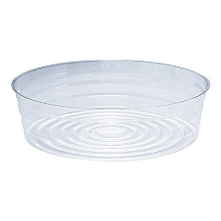 Diameter Saucer (Clear Plastic Pot Saucer for Garden Pots and Bags, 12in. Top Diameter )