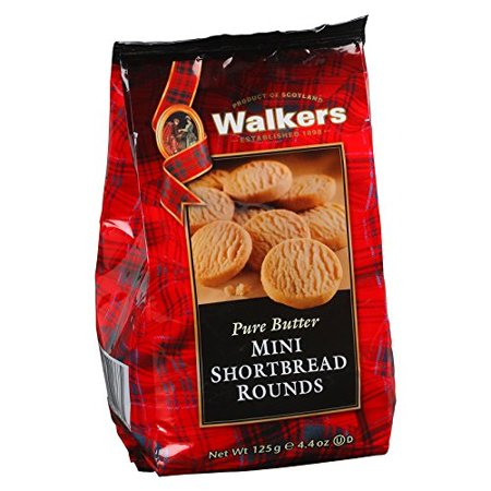 Mini Shortbread - Walkers, Pure Butter, Mini Shortbread Rounds, net weight 125 g (Pack of 1 piece) / Beststore by KK