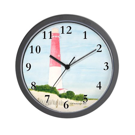 "CafePress - Barnegat Lighthouse - Unique Decorative 10"" Wall Clock"