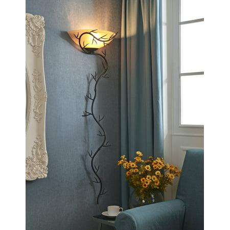 Kenroy Home Twigs 1-Light Wallchiere, Bronze (Transitional Wallchiere)
