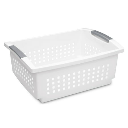 Sterilite, Large Stacking Basket, White