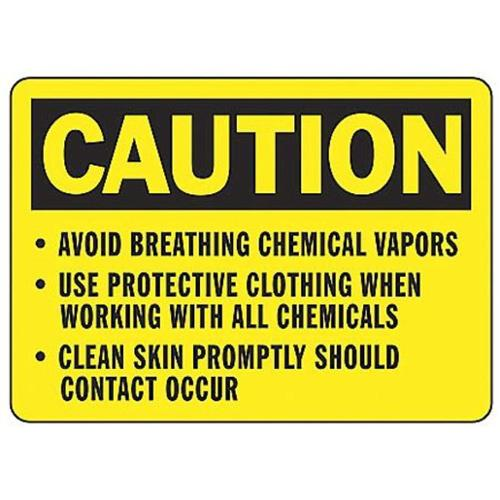 ACCUFORM SIGNS MCHL636VP Caution Sign,7 x 10In,BK YEL,PLSTC,ENG by ACCUFORM