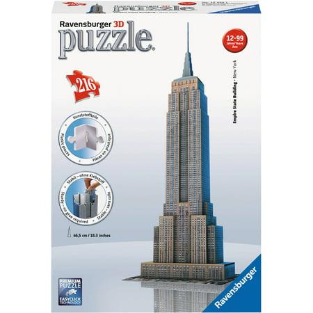 Ravensburger - 3D Puzzle - Empire State Building - 216 Piece Jigsaw Puzzle