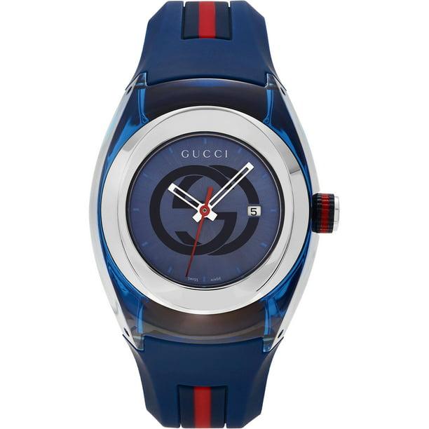Gucci Unisex Sync Rubber Blue 46mm Watch YA137104
