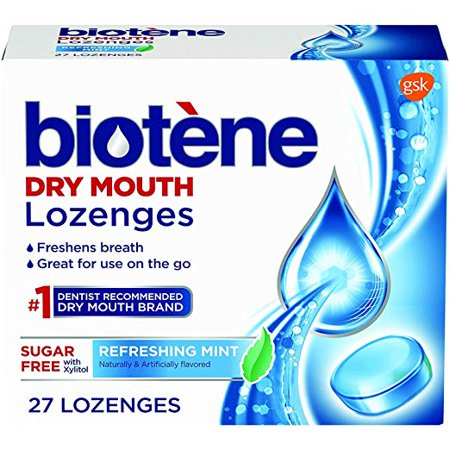 Biotene Dry Mouth Lozenges for Fresh Breath, Refreshing Mint, 27 ct each -  Biot��ne