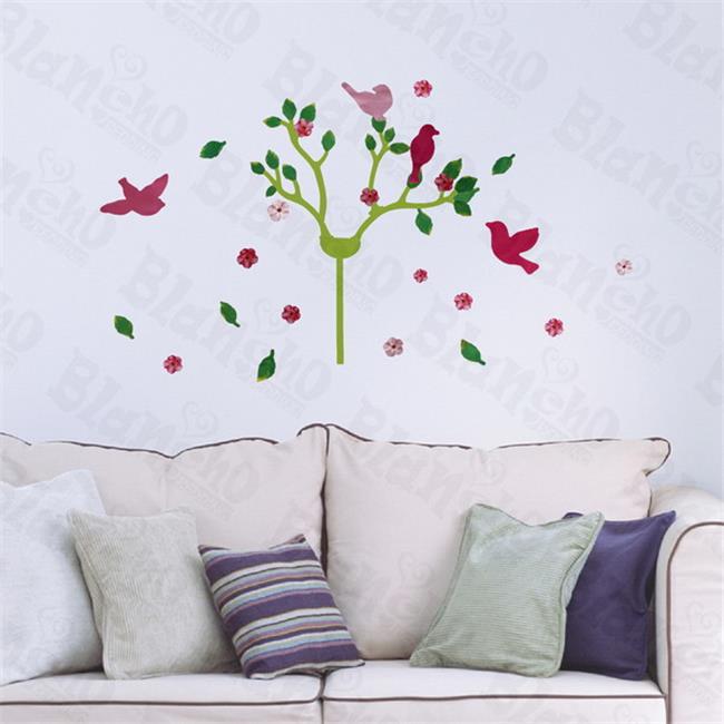 Cherry Blossom & Birds - Hemu Wall Decals Stickers Appliques Home Decor