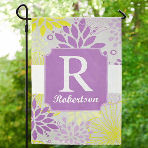 Personalized Spring Blossoms Garden Flag
