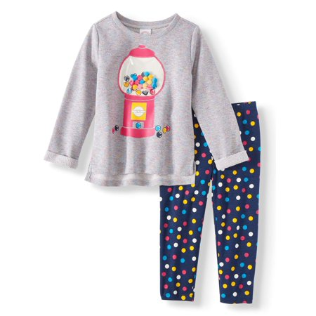 Girl Greaser Outfits (Graphic Tunic & Leggings, 2-Piece Outfit Set (Toddler)