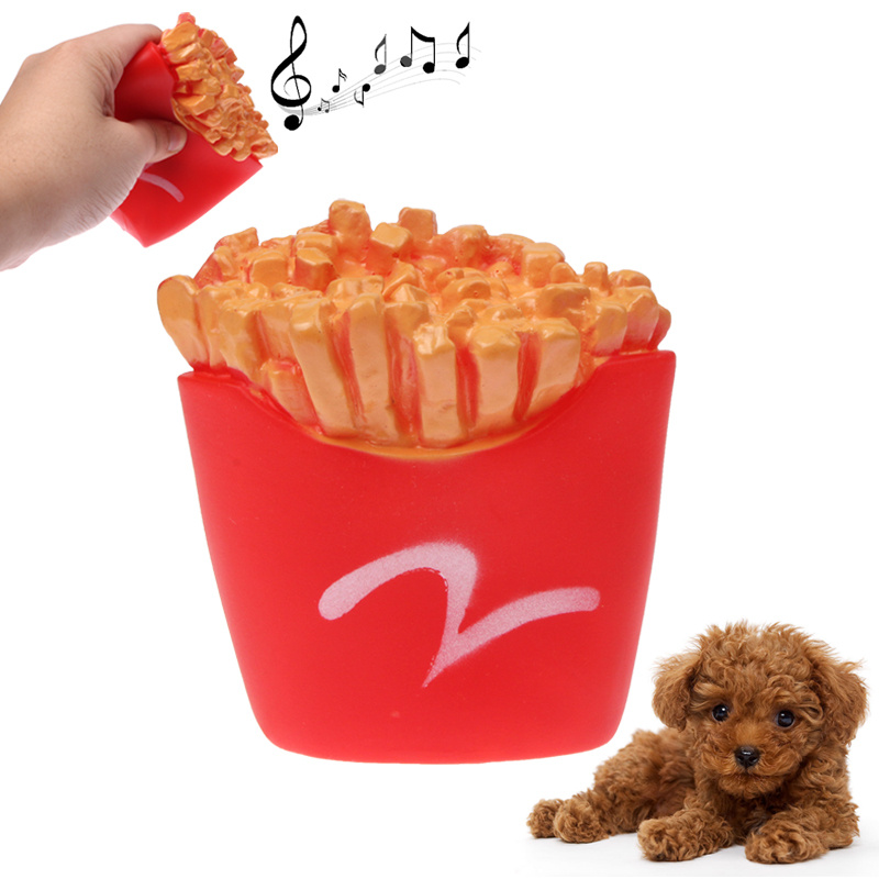 French Fries Shape Plastic Pet Toys with Whistle for Dogs / Cats(Red)