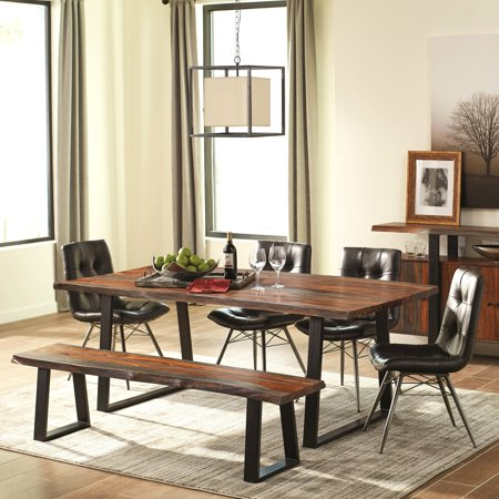 A Line Furniture Modern Artistic Designed Dining Set With Danish Style On Tufted Upholstered Chairs