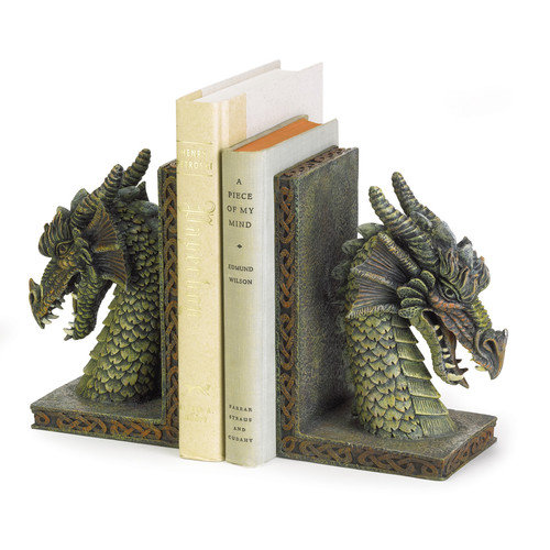 Zingz & Thingz Cresting Dragon Book Ends (Set of 2)