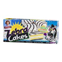 Little Debbie Zebra Cakes Snacks, 4 Boxes, 10 Cakes Per Box
