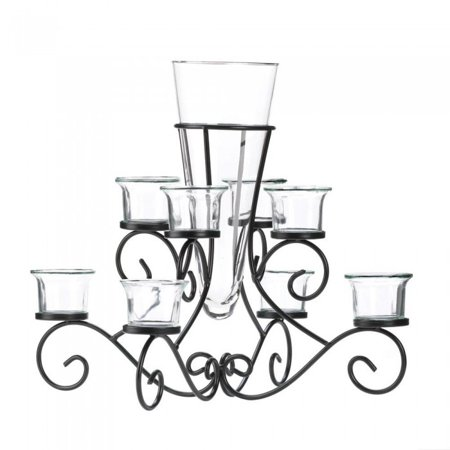 SCROLLWORK CANDLE STAND WITH