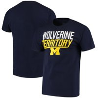 Men's Russell Athletic Navy Michigan Wolverines Slogan T-Shirt