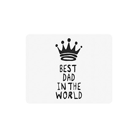 "POPCreation Best Dad In The World Mouse Pad Gaming Mousepad 9.84""(L) x 7.87""(W)"