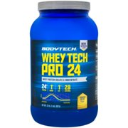 BodyTech Whey Tech Pro 24 Protein Powder  Protein Enzyme Blend with BCAA's to Fuel Muscle Growth  Recovery, Ideal for PostWorkout Muscle Building  Banana Crème (2 Pound)