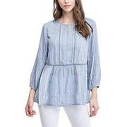 Fever Ladies Sleeve Blouse, Blue Whistler's, Medium