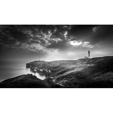 LAMINATED POSTER Flamborough Head Moody Seascape Lighthouse Poster Print 24 x 36