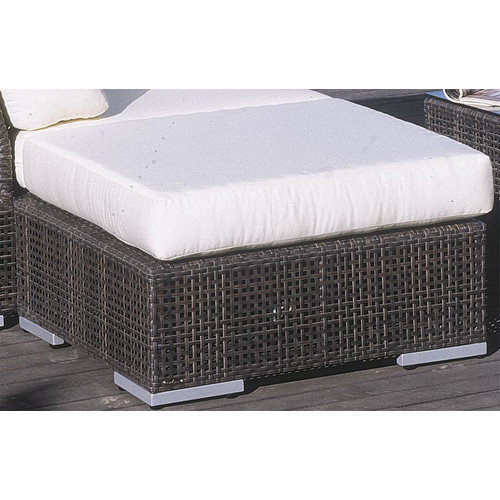 Hospitality Rattan Soho Ottoman with Cushion
