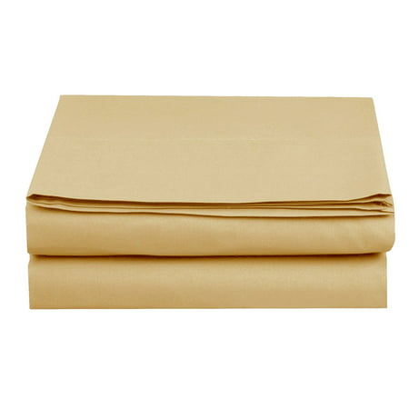 1500 Thread Count 1-Piece Fitted Sheet, Twin/Twin XL Size, Gold Pink King Fitted Sheet