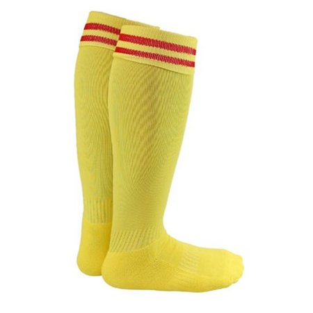 Lovely Annie Men's 1 Pair Knee High Sports Socks for Baseball/Soccer/Lacrosse 002 L Yellow
