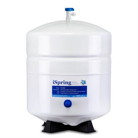 - iSpring T32M 4 Gallon Residential Pressurized Water Storage Tank for Reverse Osmosis (RO) Systems