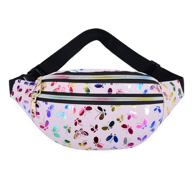 Fanny Pack Bum BagBelt Bag Hiking BagVacation BagColorful Butterflies Fabric