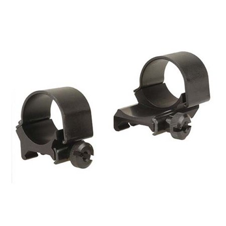 "Weaver Detachable Top Scope Mount Rings 1"" Medium Extended, Matte Black - 49091"