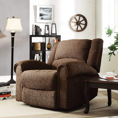 Chenille Recliner Chair, Multiple Colors