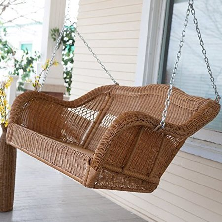 Coral Coast Casco Bay Resin Wicker Porch Swing ()