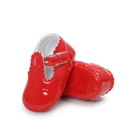 Babula Baby Girl Bling Soft Sole Crib Shoes Non-Slip Princess Shoes 0-18M