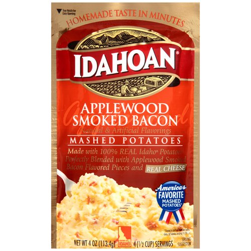 Idahoan Applewood Smoked Bacon Mashed Potatoes, 4 oz