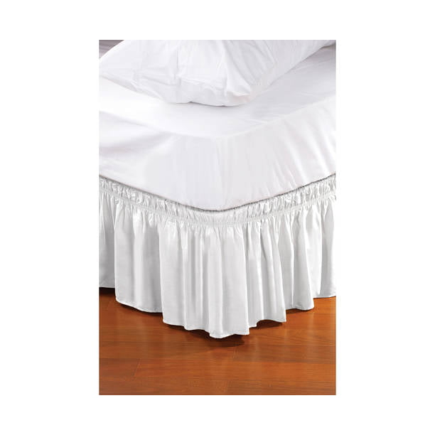 Home Details Wrap Around Bed Ruffle Bed Skirt White 78x54x14