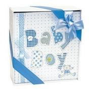 White and Blue Baby Boy Photo Album-4x6 Photos
