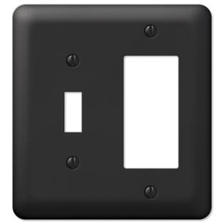 black metal toggle switch rocker gfci decora wall plate cover combo