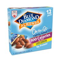Blue Diamond Almonds, Lightly salted, 100 calorie packs - 12 Ct