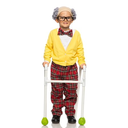 Child Old Man Grandpa Costume - Costume Ideas For 11 Year Olds