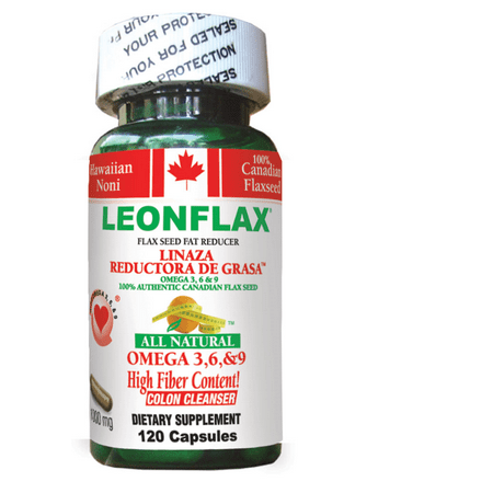Leonflax Canadian Flax Seed, 100% Natural Fat Reducer, 120Ct