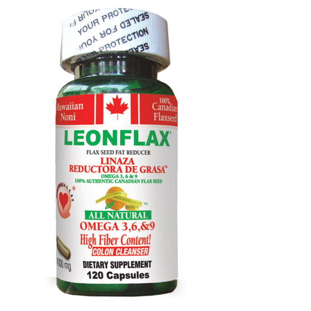 Leonflax Canadian Flax Seed 100 Natural Fat Reducer 120ct