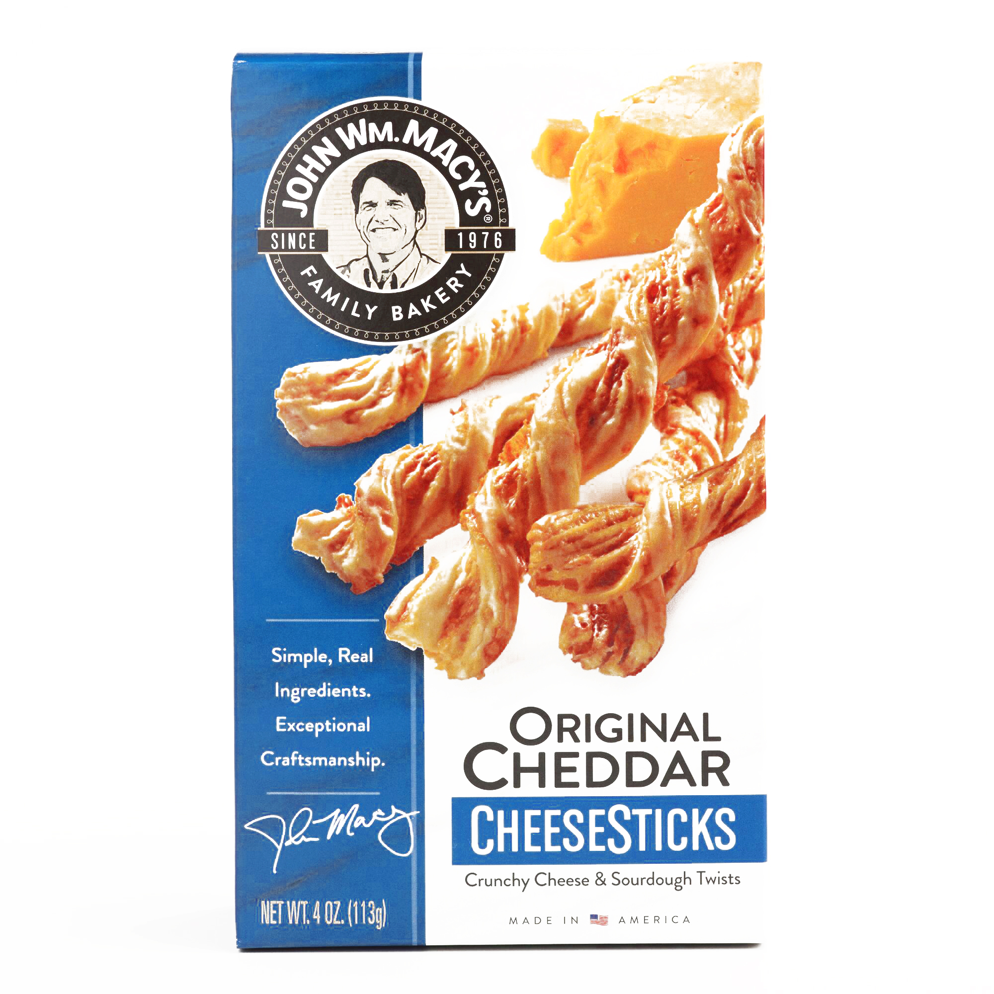 Macy's Cheddar Cheese Sticks 	4 oz each (1 Item Per Order, not per case)