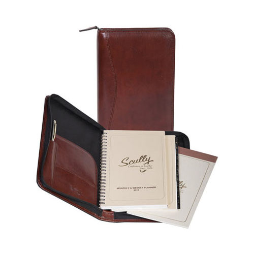 """Scully Weekly Planner Italian Leather 5045Z  6.5"""" x 9.6"""" x 1"""""""