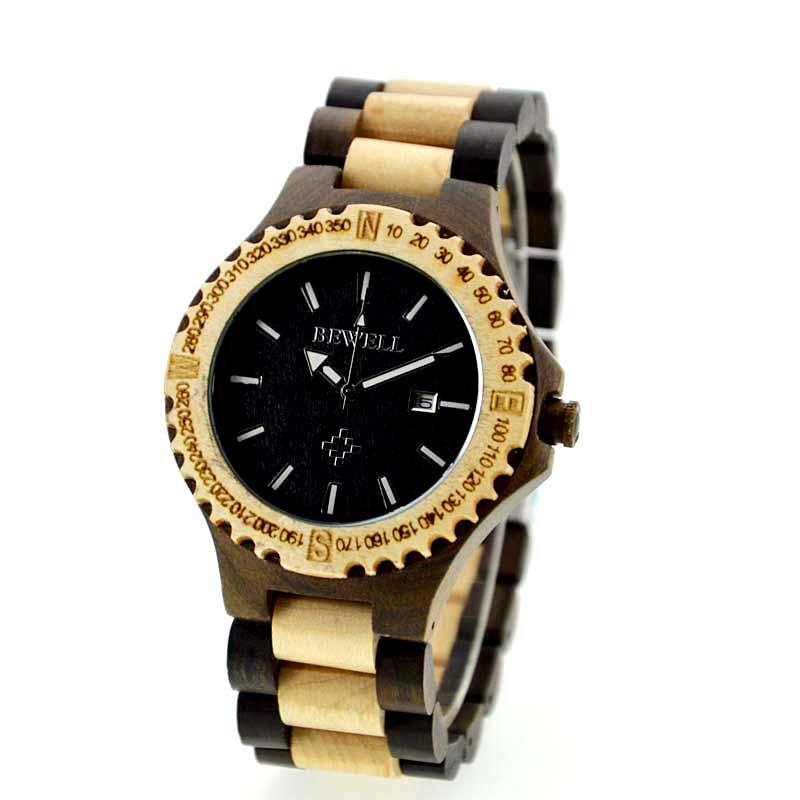 Bewell Eco Friendly Wood Watch Made With Black And Maple ...