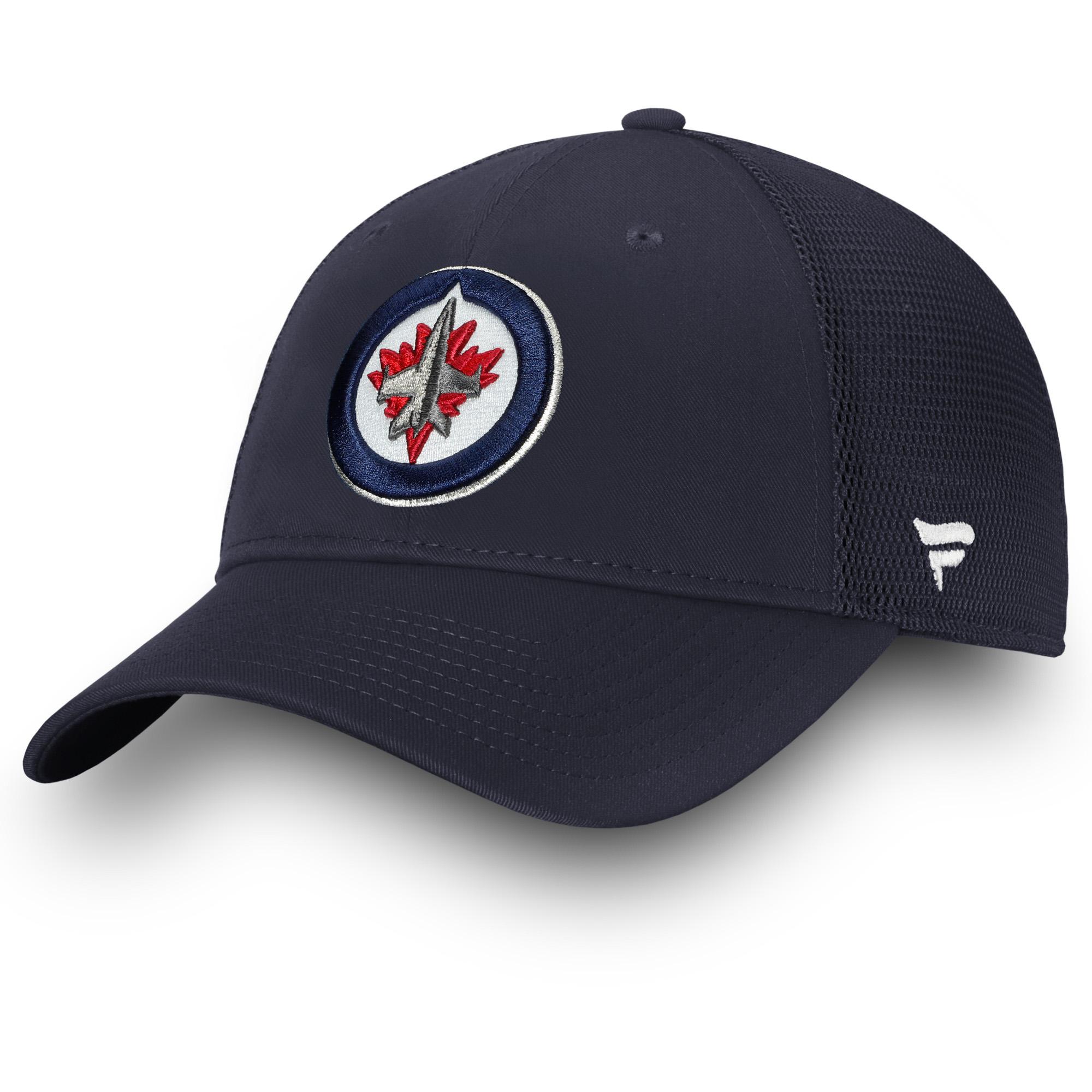Winnipeg Jets Fanatics Branded Elevated Core Trucker Adjustable Snapback Hat - Navy - OSFA