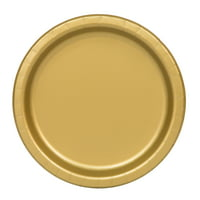 Solid Red Paper Dinner Plates, Round, 9 in, 20ct