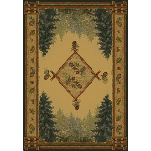 United Weavers of America Genesis Yellow Forest Trail Lodge Area Rug